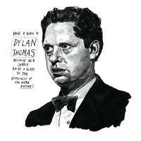 Dylan Thomas poster print Great Welsh Poet Literary Print