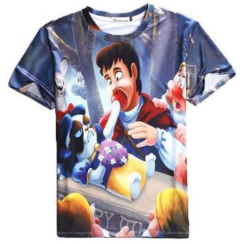 Grumpy Cat as Snow White Disney Princess All Over Print Graphic Tee