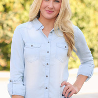 Light Chambray Top