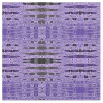 Purple and Black Abstract Pattern Fabric