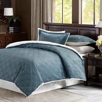 Comfort Classics Lowell Double Diamond Mink Reverse To Berber Comforter Mini Set - Walmart.com