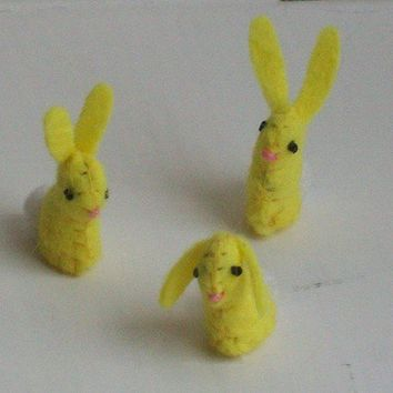 Tiny Lemon Drop Bunny by MossMountain on Etsy