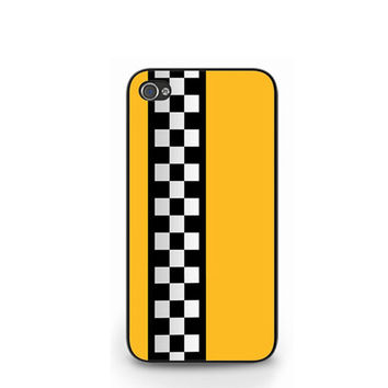 NEW Funny Yellow Taxi Stripes iPhone 4 4S / iPhone 5 Hard Case Cover