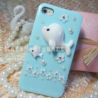 unique iphone 4s case,dolphin iphone 5 cover iphone 4 cass - flowers iphone 4 case
