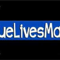 Blue Lives Matter Thin Blue Line Police Black Background Tag