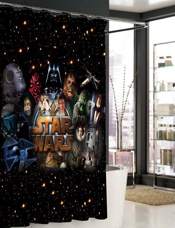 Star Wars All Character Shower Curtain From Pentiktempeng On