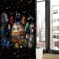 star wars all character  shower curtain, curtains, shower curtains size 36x72 48x72 60x72 66x72