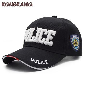 Trendy Winter Jacket New Brand Police Baseball Cap Men Embroidery Army Tactical Snapback Caps Gorras Adjustable Unisex Casual SWAT Baseball Hat Bone AT_92_12