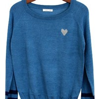 Have A Little Heart Sweater, Blue