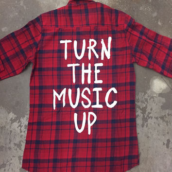Jac Vanek Turn The Music Up Vintage Flannel