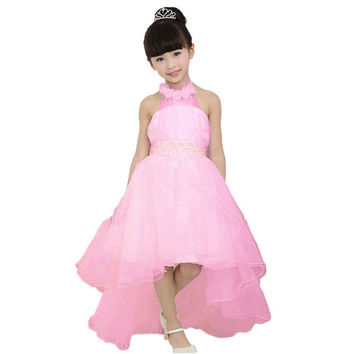 Flower Girl Dress Birthday Wedding Formal Pageant Recital Graduation Bridesmaid SM6