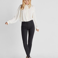 high waisted stretch skinny pant