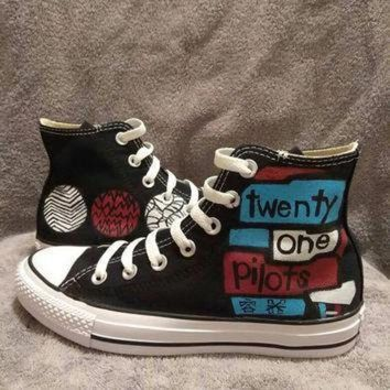 DCCK1IN twenty one pilots custom converse