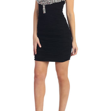 PRIMA C1521 Jeweled Homecoming Cocktail Dress