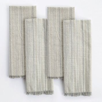 Fringe Stripe Organic Cotton Napkins