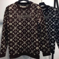 LV X Supreme Fashion  Sleeve Top Sweater Pullover