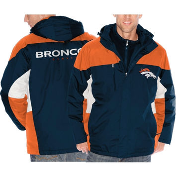 Denver Broncos Lombardi Three-In-One Jacket - Navy Blue