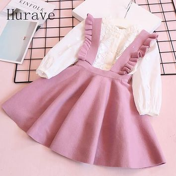 Autumn Girl Dress For Toddler Children Clothing Beautiful Knitted Ruffles Clothes