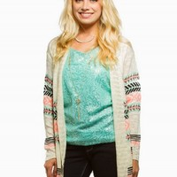 EYESHADOW AZTEC CARDIGAN