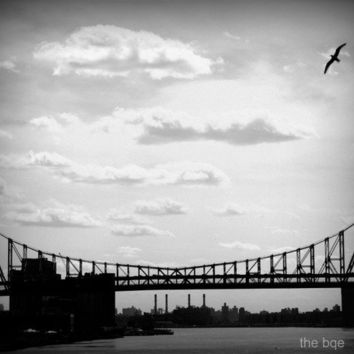 Queensboro Bridge From Afar 5x7 Photography Print Black by thebqe