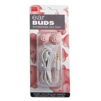 DCI 25969 Pig Head Earbuds - Wired Headsets - Retail Packaging - Pink