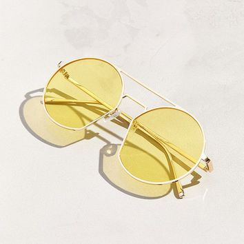 Stylized Aviator Sunglasses | Urban Outfitters