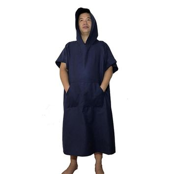 Microfiber  Wetsuit Changing Robe Poncho with hood, Quick Dry Hooded Towels for Swim, Beach & Pool. Compact & Lightweight
