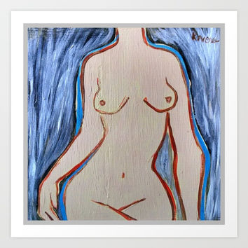 female nude Art Print by Kathead Tarot/David Rivera