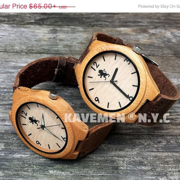 SALE Minimalist Wood Watch. Mens Wood Watch. Kavemen. Boston. Chicago.