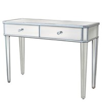 Mirrored Console Table Vanity Desk Mirror Glam 2 Drawers Home Furniture - Walmart.com