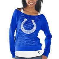 G-III 4Her Indianapolis Colts Ladies Holy Sweatshirt & Tank Set - Royal Blue