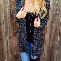 Cascading Open Front Cardigan - FINAL SALE