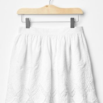 Gap Girls Lace Eyelet Skirt
