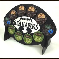 Seattle Seahawks Football 10 K Cup Holder and Coffee Pod Display
