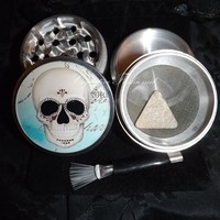 Day Of The Dead Sugar Skull Retro 4 Piece Herb Grinder Pollen Screen Catcher from Cognitive Fashioned