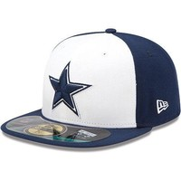 New Era Hat Cap NFL Football Dallas Cowboys 7 7/8 59fifty 2012 Sideline Fitted