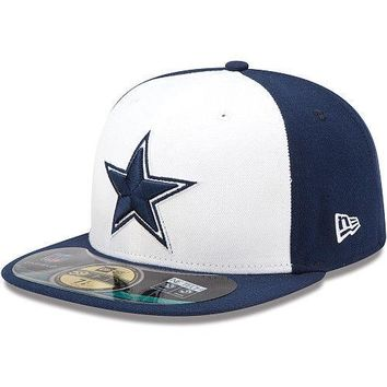 New Era Hat Cap NFL Football Dallas Cowboys 7 59fifty 2012 Sideline Fitted