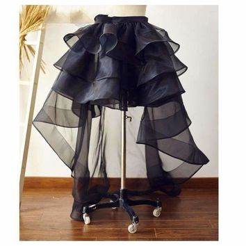 Womens Ruffles Tulle Skirt