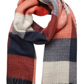 Monochrome Red Check Scarf - View All New In - New In