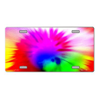 Smart Blonde Pink Tie-Dye Customizable Vanity Metal Novelty License Plate Tag Sign