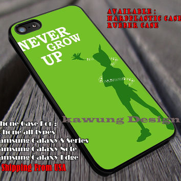 Never Grow Up Green Poster, Minimal Poster, Peterpan, Disney, case/cover for iPhone 4/4s/5/5c/6/6+/6s/6s+ Samsung Galaxy S4/S5/S6/Edge/Edge+ NOTE 3/4/5 #cartoon #animated #disney #peterpan ii