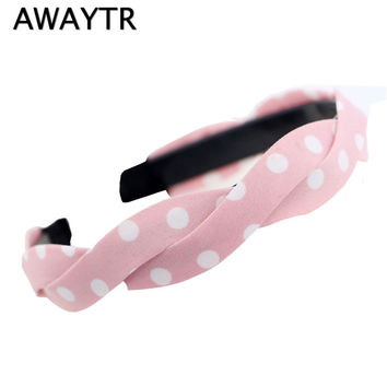 AWAYTR Women Fashion Cloth Art Headdress Womens Toothed Antiskid Wave Contracted Wide-Brimmed Hair Hoop Hair Accessories