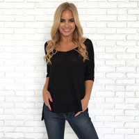 Freedom Jersey Blouse In Black