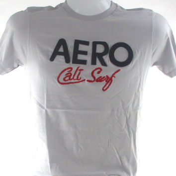 Aeropostale Aero Cali Surf Men Grey T-Shirt