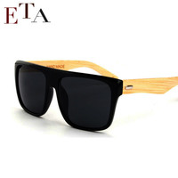 New 2016 Bamboo Sunglasses Men Wooden Sunglasses Women Brand Designer Mirror Original Wood Sun Glasses Oculos de sol masculino