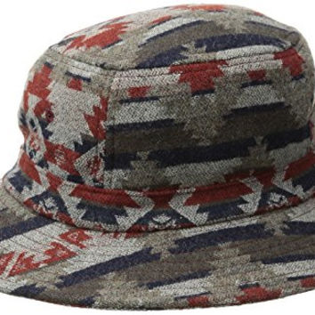 Pendleton Men's Jacquard Bucket Hat, Taupe/Red Mountain Majesty, X-Large