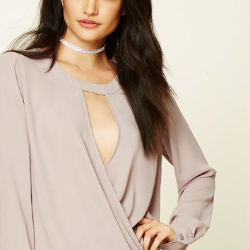 Cutout-Front Surplice Top