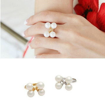 Stylish Jewelry Gift Shiny New Arrival Korean Accessory Pearls Ring [6586164487]