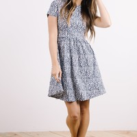The Navy Petal Party Dress