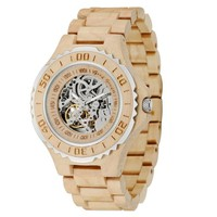 MEKU Mens Handmade Automatic Movement Wooden Watch Limited Edition - Dynamic Series